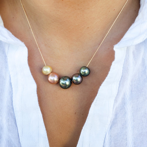 5 Tahitian, Edison & South Sea Pearls Necklace