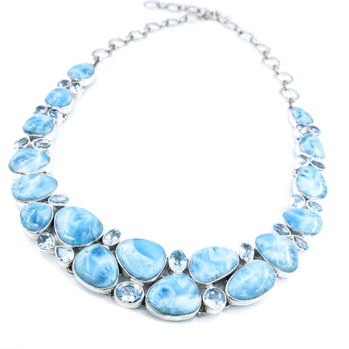 Larimar & Blue Topaz Necklace
