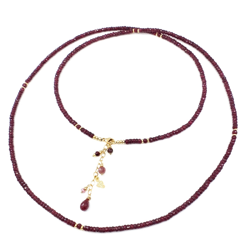 Long Rubies Necklace