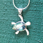 Petroglyph Turtle Pendant with Abalone