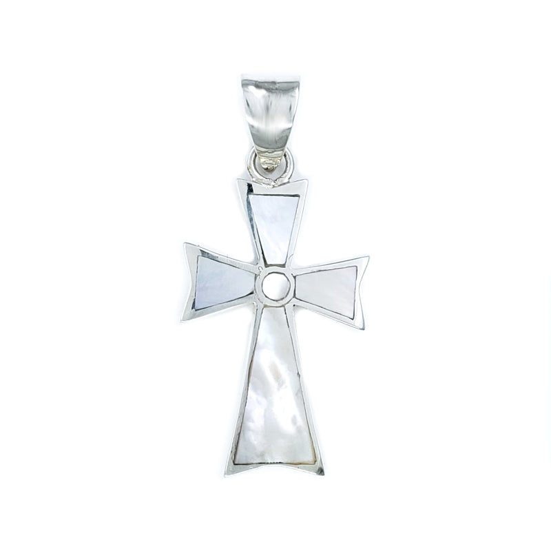 Small Mother Of Pearl Cross Pendant