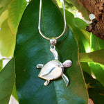 Petroglyph Turtle Pendant with White Mother of Pearl