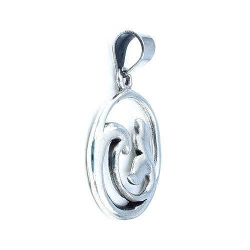 Whale Tail Wave Pendant