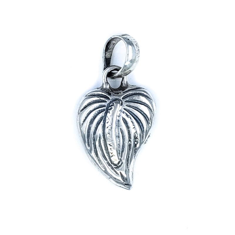 Sterling Silver Anthurium Pendant