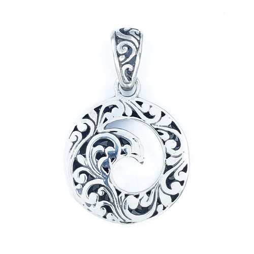 Ornate Maui Wave Pendant