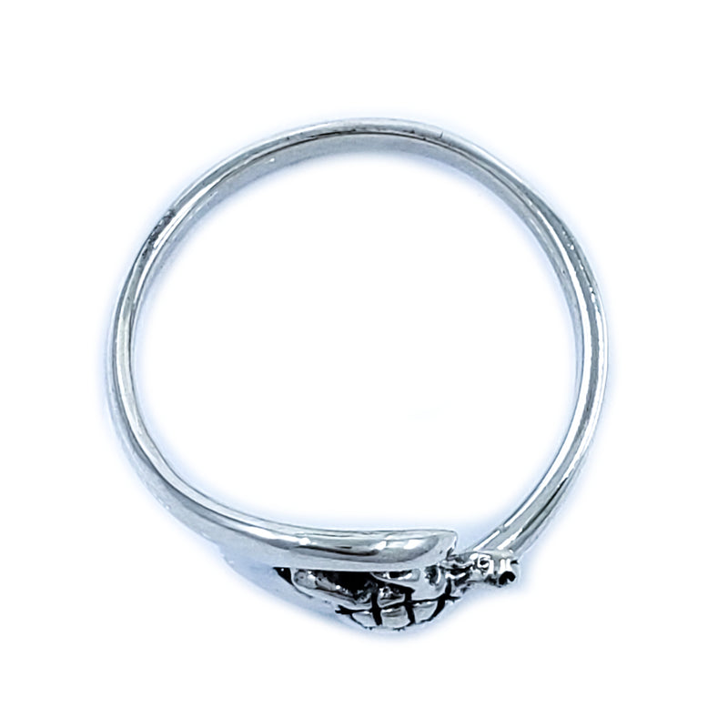 Sterling Silver Surfing Turtle Ring