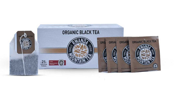 25 enveloped tea bags 50g Organic black tea by Rwanda mountain tea
