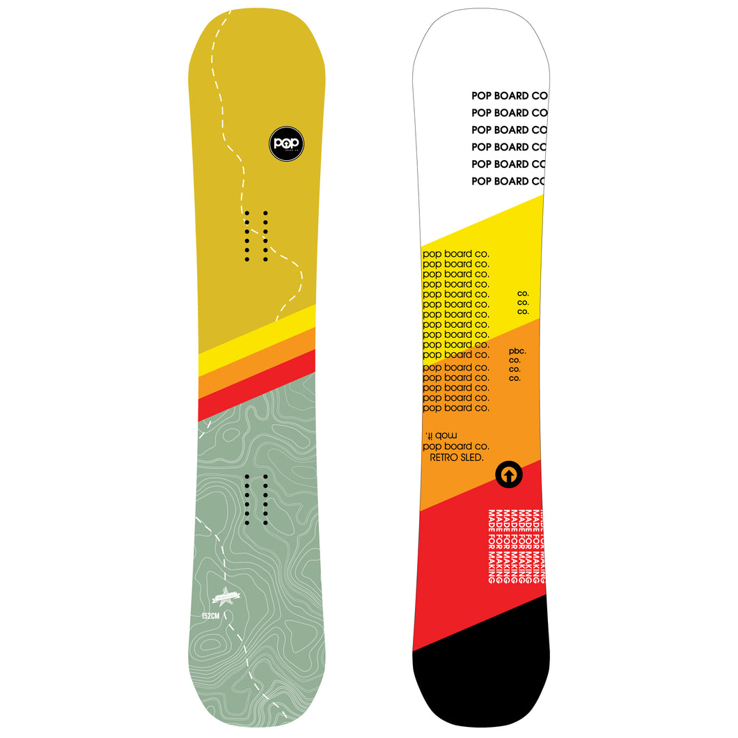 POP Board Co. Retro Sled - 152cm - Canadian Board Company