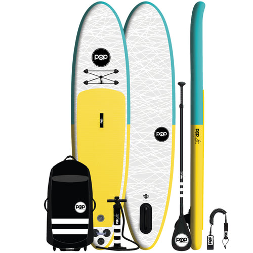 POP Board Co. - The POP Up – Turquoise/Yellow - Canadian Board Company