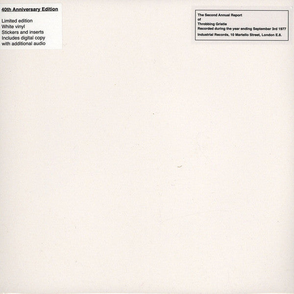 Throbbing Gristle - The Second Annual Report (White)