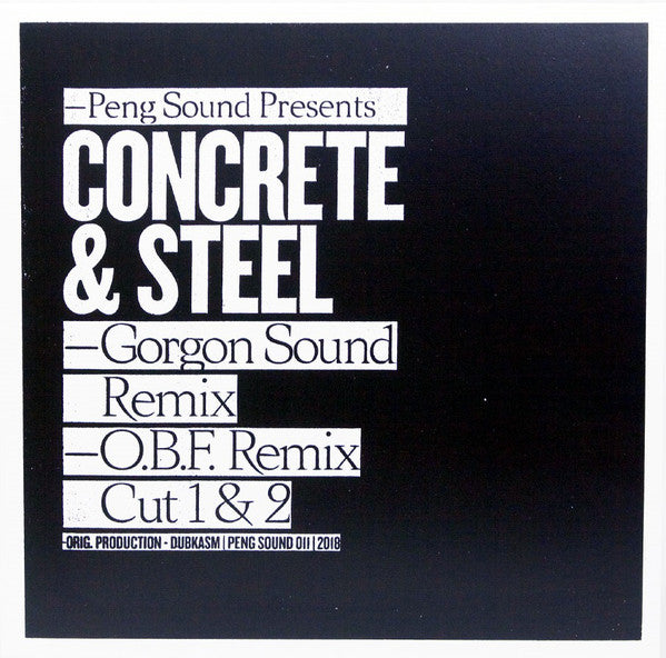 Dubkasm - Concrete & Steel (Gorgon Sound & O.B.F. Remixes)