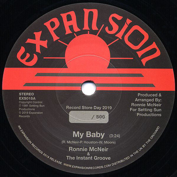 Ronnie McNeir & The Instant Groove - My Baby / Hold On