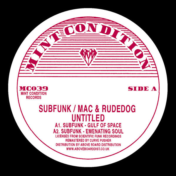 Subfunk / Mac & Rudedog ‎ - Untitled