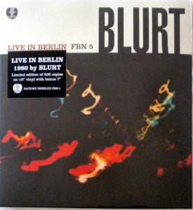 Blurt - Live In Berlin