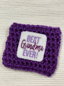 Best Grandma Ever Purple Reusable Eco-Friendly Hot and Cold Beverage Cup Cozy