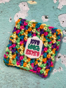 Love Teach Inspire Reusable Eco-Friendly Hot and Cold Beverage Cup Cozy