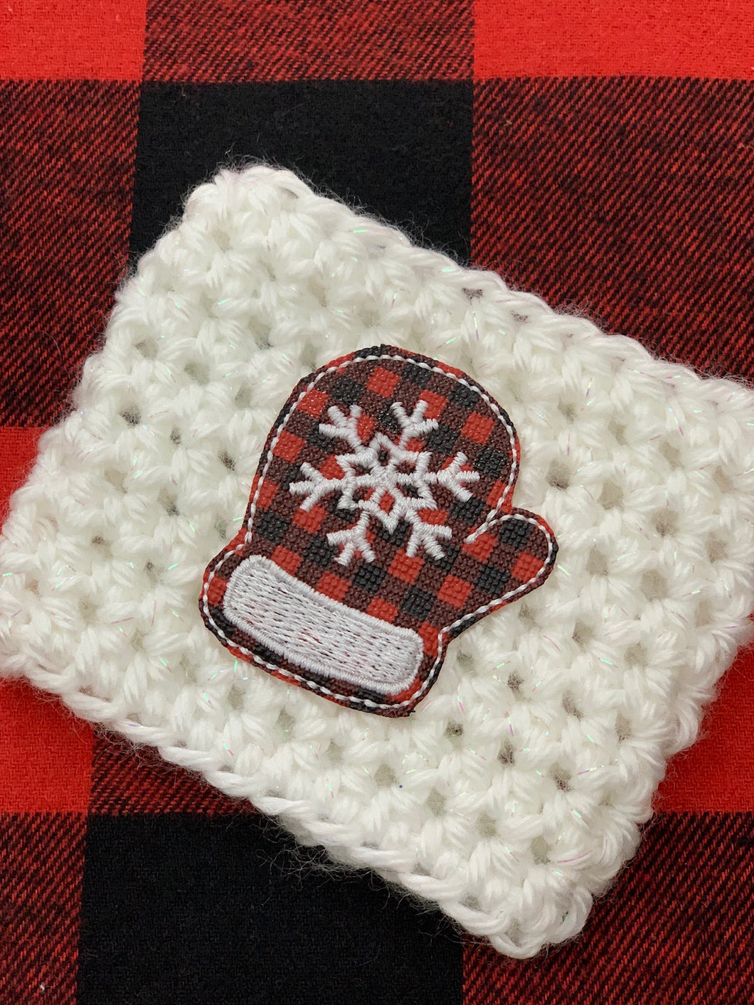 Red Buffalo Plaid Mitten Reusable Eco Friendly Hot and Cold Beverage Cup Cozy