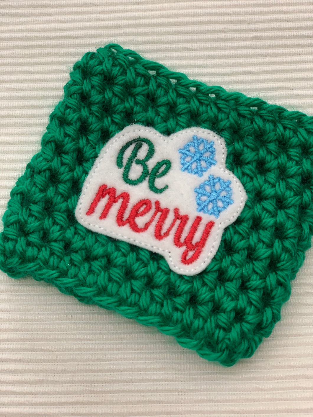 Be Merry on Green Reusable Eco Friendly Hot and Cold Beverage Cup Cozy