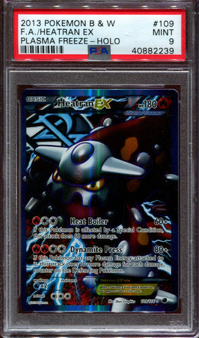 Heatran EX - Full Art - Plasma Freeze - 109/116 - PSA 9