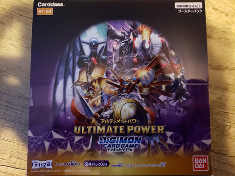 Digimon Card Game - Ultimate Power - BT-02 - Sealed Box - 24 Packs