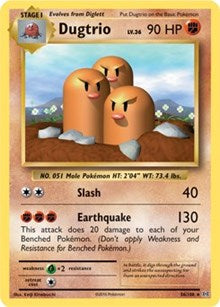 Dugtrio - 56/108 - Rare - XY Evolutions