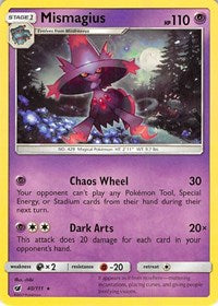 Mismagius - 40/111 - Rare - Sun & Moon Crimson Invasion