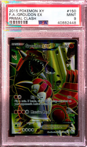 Groudon EX - Full Art - XY Primal Clash - 150/160 - PSA 9