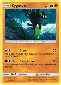 Zygarde - 72/131 - Rare - Sun & Moon Forbidden Light
