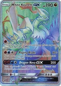 White Kyurem GX - 74/70 - Hyper Rare (Rainbow) - Sun & Moon Dragon Majesty