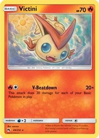 Victini - 49/214 - Rare - Sun & Moon Lost Thunder