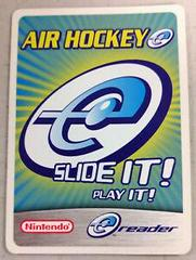 Air Hockey E-Reader Promo Card - GameBoy Advance