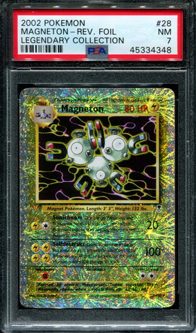 Magneton - 28/110 - Legendary Collection - PSA 7 - Reverse Foil