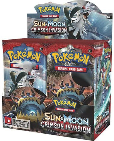 Sun & Moon Crimson Invasion - Pokemon - 36 Pack Booster Box - Sealed - New