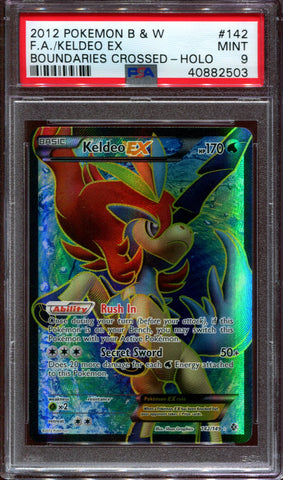 Keldeo EX - Full Art - Boundaries Crossed - 142/149 - PSA 9