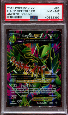 M Sceptile EX - Full Art - XY Ancient Origins - 85/98 - PSA 8