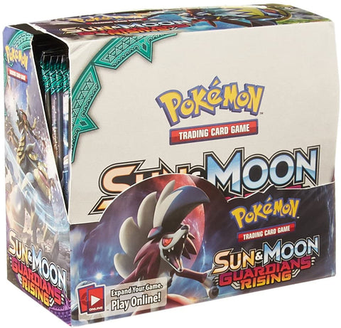 Sun & Moon Guardians Rising - Pokemon - 36 Pack Booster Box - Sealed - New