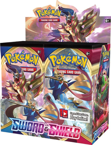Sword & Shield (Base Set) - Pokemon - 36 Pack Booster Box - Sealed - New