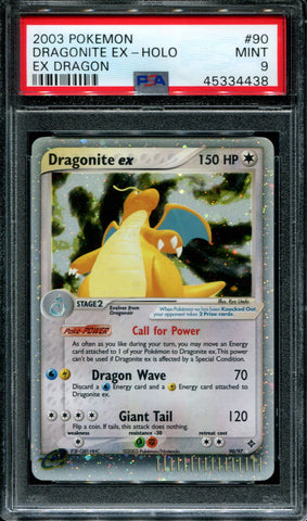 Dragonite ex - EX Dragon - 90/97 - PSA 9