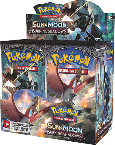 Sun & Moon Burning Shadows - Pokemon - 36 Pack Booster Box - 1st Print - Sealed - New