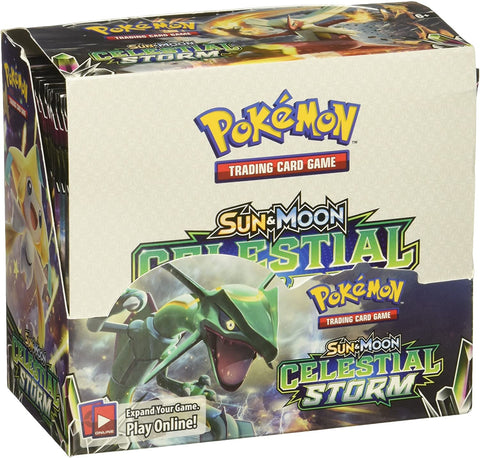 Sun & Moon Celestial Storm - Pokemon - 36 Pack Booster Box - Sealed - New