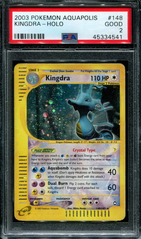 Kingdra - 148/147 - Aquapolis - PSA 2 - Holo