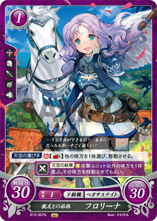 Florina: Journeying With Her Close Friend - B13-007N - Fire Emblem Cipher 13