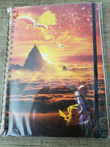 Ash & Pikachu w/ Ho-oh - Pokemon Special Edition Spiral Notebook