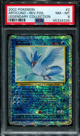 Articuno - 2/110 - Legendary Collection - PSA 8 - Reverse Foil