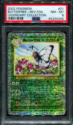 Butterfree - 21/110 - Legendary Collection - PSA 8 - Reverse Foil