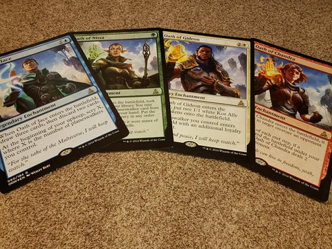 "Magic the Gathering - Giant Oversized - Oath Set of 4 - Jace, Nissa, Gideon, Chandra - 19.5""x27"""
