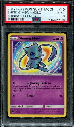 Shining Mew - Shining Legends - 40/73 - PSA 9