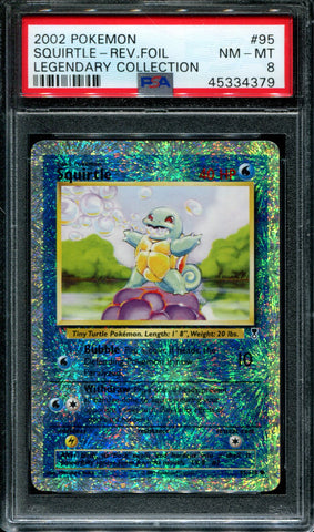 Squirtle - 95/110 - Legendary Collection - PSA 8 - Reverse Foil