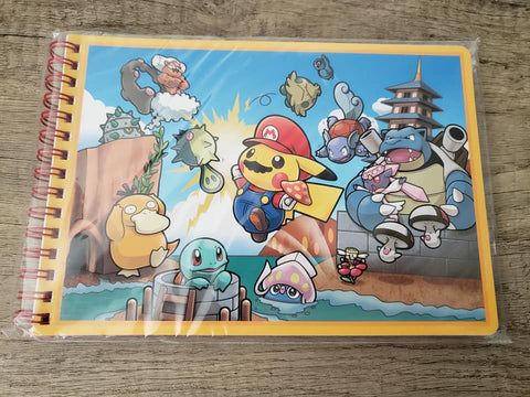 Pikachu & Mario - Special Edition Spiral Notebook - Pokemon