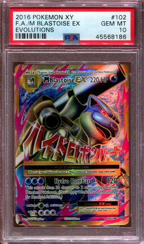 Mega Blastoise EX - Full Art - XY Evolutions - 102/108 - PSA 10